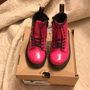 Dr martens patent leather boot size US 9 NEW
